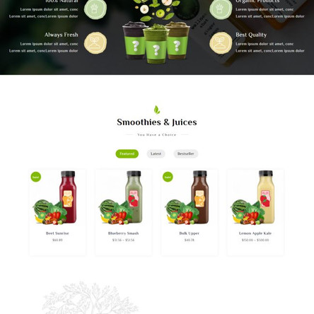 WS Juice – Free Smoothie Website Template