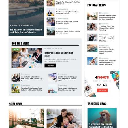 4News - News & Magazine WordPress Elementor Theme