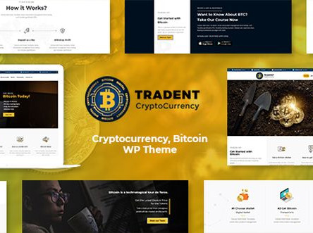 Tradent - Cryptocurrency, Bitcoin WordPress Theme