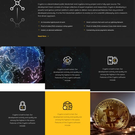 Cryptro - Cryptocurrency, Blockchain , Bitcoin & Financial Technology