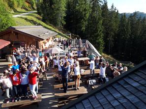 Terrasse Almrausch Sommer