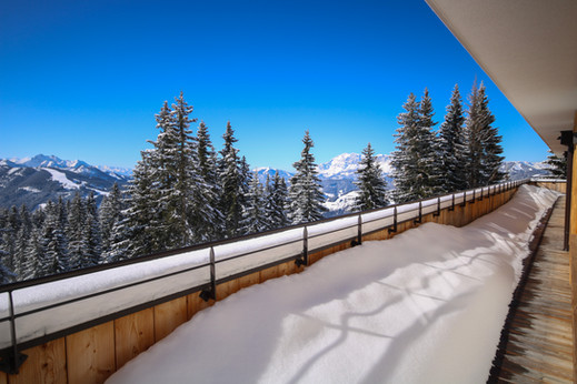 Aussicht Balkon Almstadl