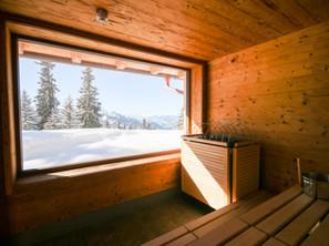 Sauna mit Bergpanorama