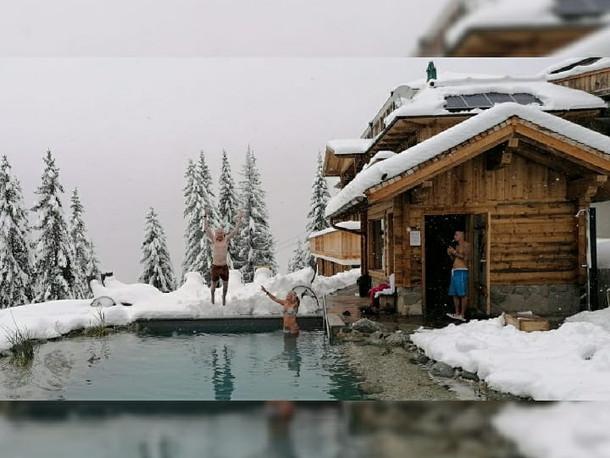 Außenteich Winter