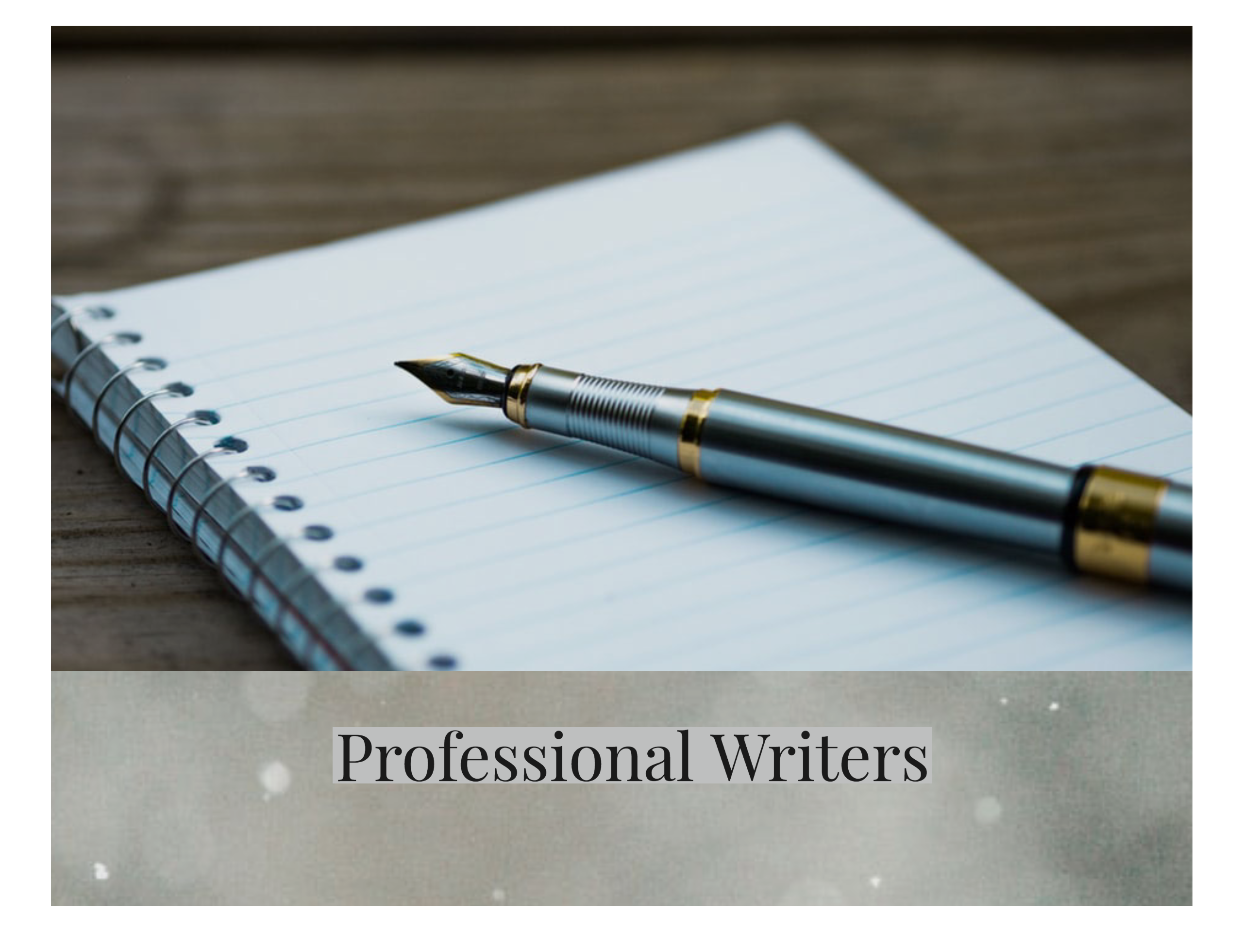Writing Professionals