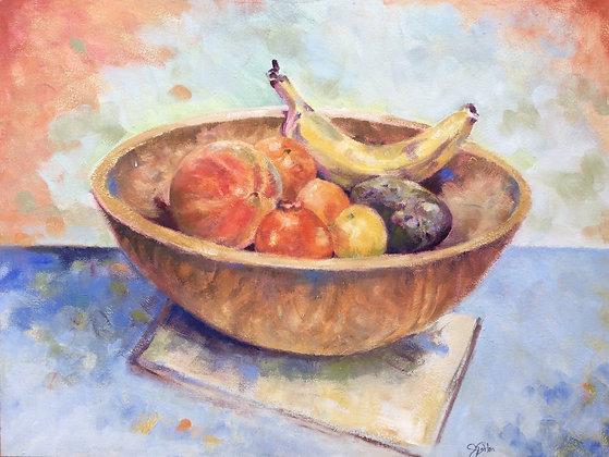 Fruitful Wood Bowl