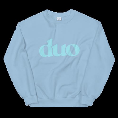 original duo crewneck: blue