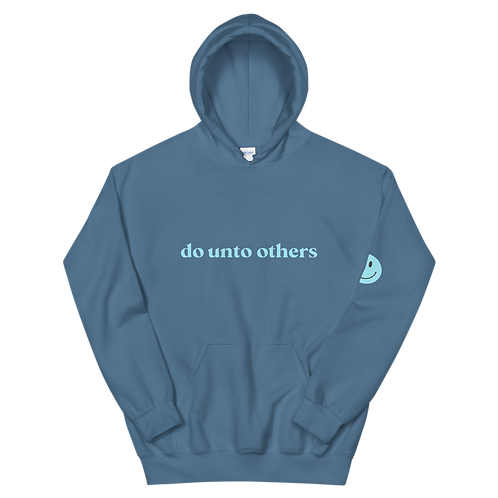 do unto others hoodie: blue