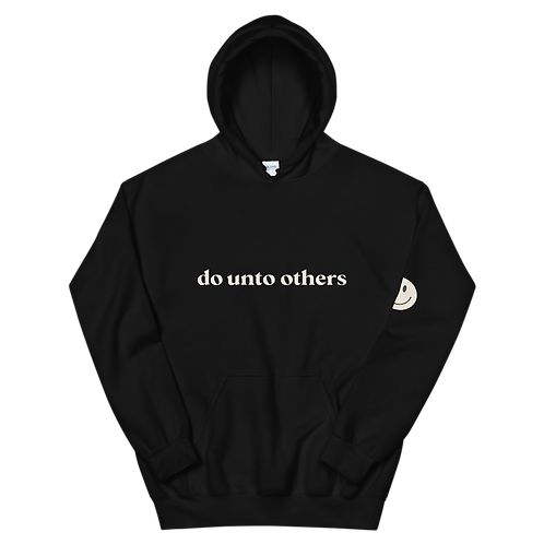 do unto others hoodie: tan