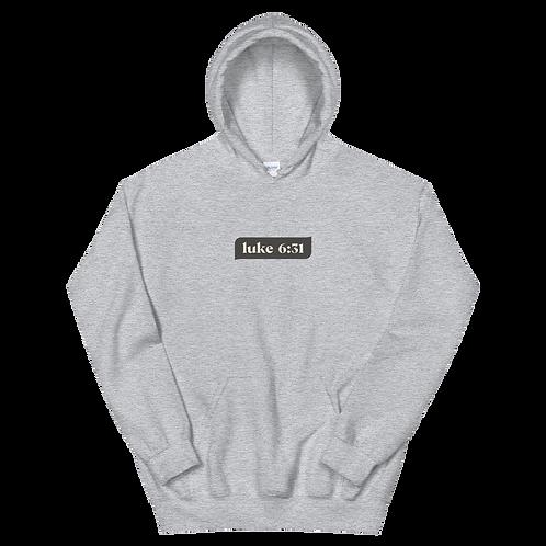 Luke 6:31- dark hoodies