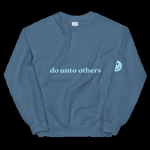 do unto others crewneck: blue