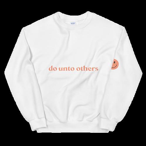 do unto others crewneck: orange
