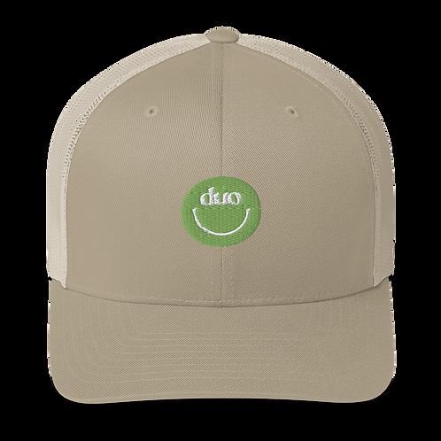 duo smiley trucker hat: green