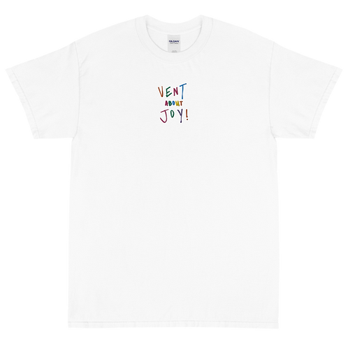 vent about joy: embroidered tee