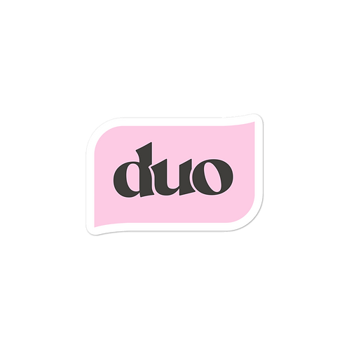 pink and black bubble stickers