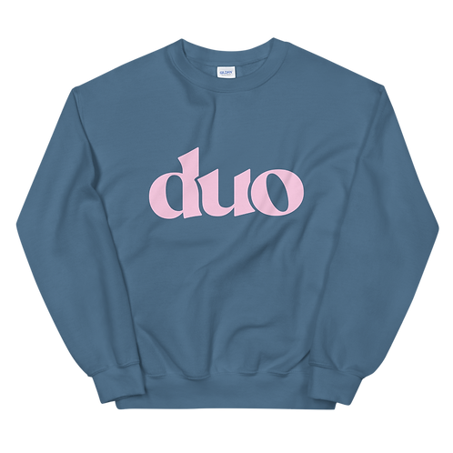 original duo crewneck: pink