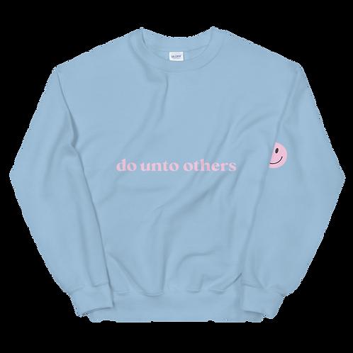 do unto others crewneck: pink