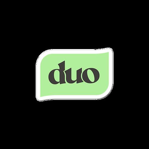 green and black bubble sticker