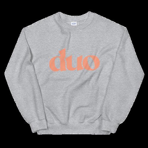 original duo crewneck: orange