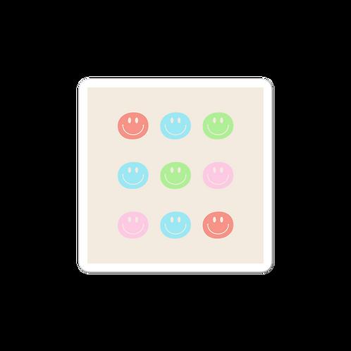 tan smiley face gallery sticker