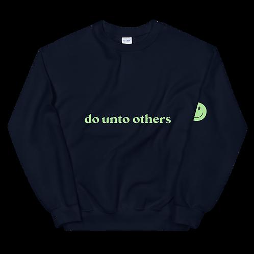 do unto others crewneck: green