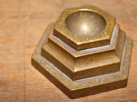Hexagonal Brass Paperweight