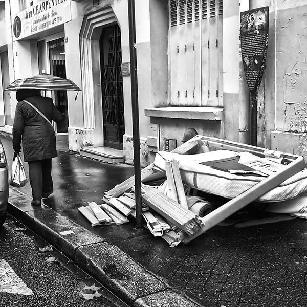 Déchets dans la rue
