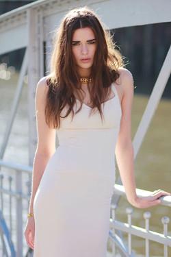 Champagne long dress