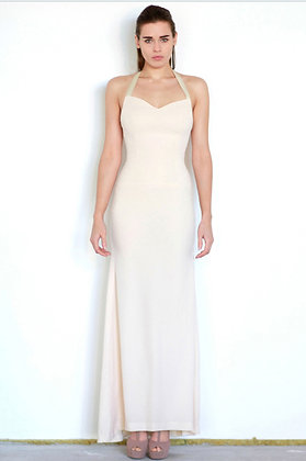 Cream evening dress