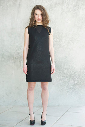 Two layers black dress