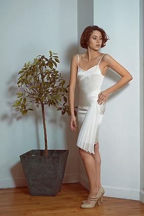Champagne silk dress