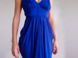 Strong blue jersey dress