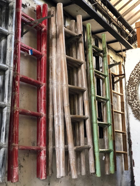 Bamboo Display Ladders