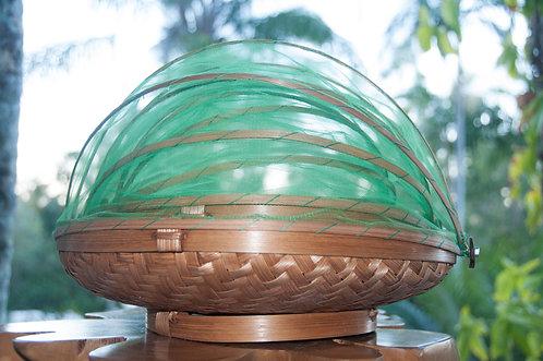 Mesh Bamboo Food Basket Sets