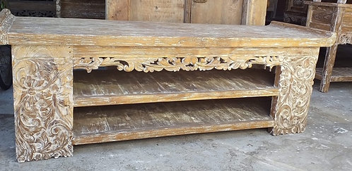 Reclaimed Teak TV Lowline Cabinet
