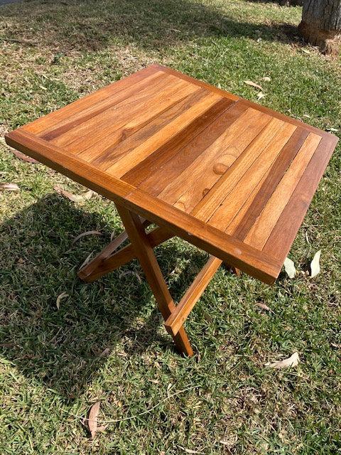 Teak Fold Up Side-Picnic Tables-Nat