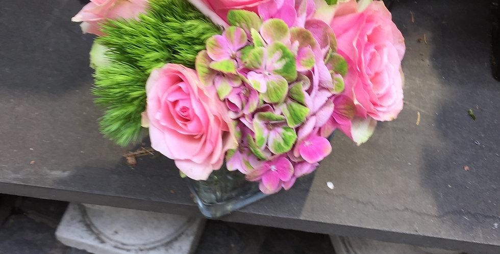 compo piques avec fleurs de saison