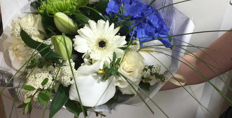 Bouquet CHAMPETRE BLANC ET BLEU
