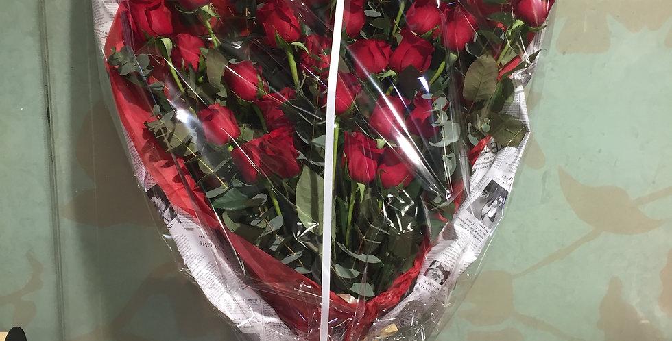 Bouquet  x20 roses rouges