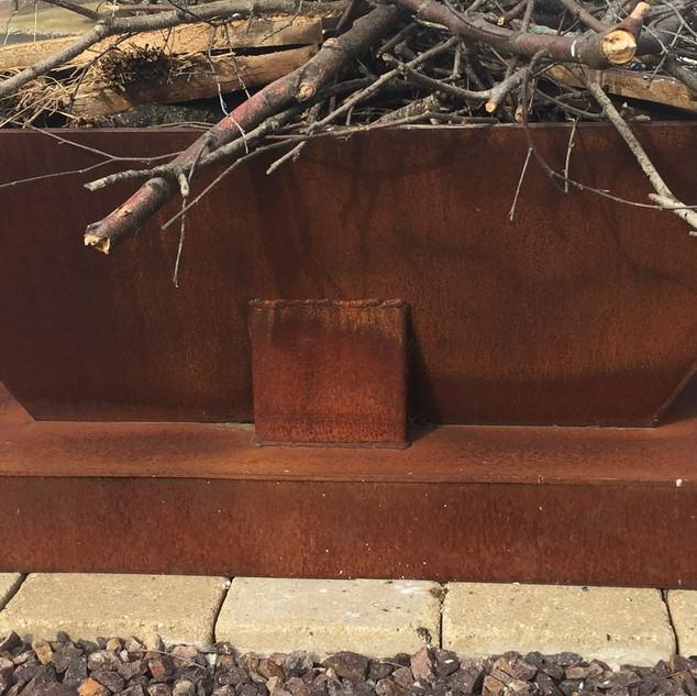 Custom fire pit we designed