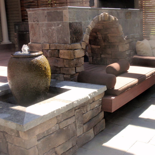 Hand crafted water jar fountain