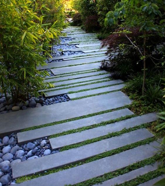 Plank Paver Walkway