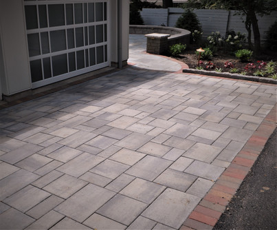 Semi permeable driveway