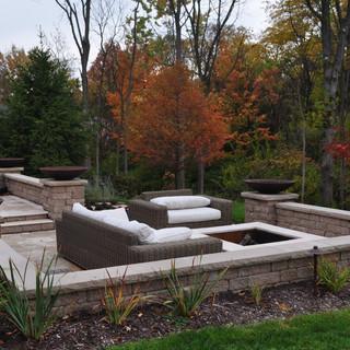 Block seating wall