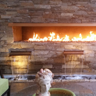 Fire & Water feature wall