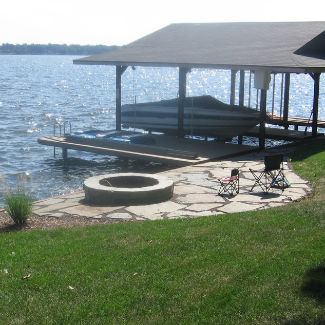 Back yard on the water
