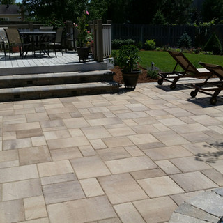 Paver Patio off of deck