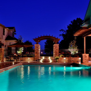 Poolhouse and space