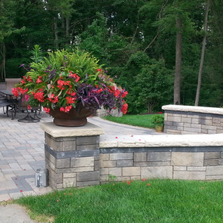 Paver patio with dining off the Kitchen