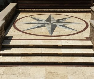 Compass Point inlay